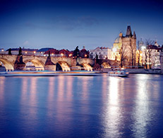 Boats by Charles Bridge